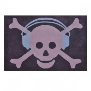 WOOL BIG SKULL HEADPHONES BLUE
