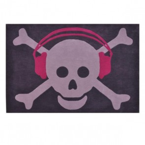 WOOL BIG SKULL HEADPHONES FUCHSIA